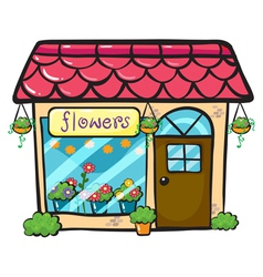 a flower shop vector image vector image