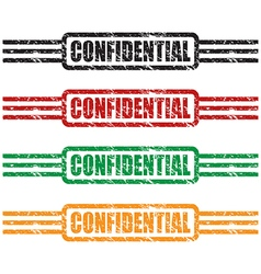 confidential stamp set vector image vector image