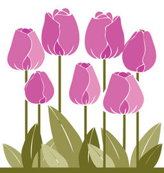 flowers-colored vector image vector image