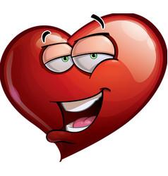 Heart Faces Hi vector image vector image