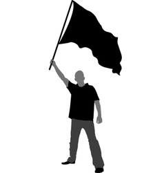 Man with flag vector image