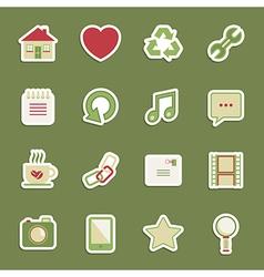 media stickers vector image vector image