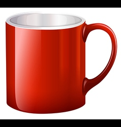 A handy red mug vector image