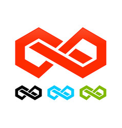 Abstract infinite block symbol graphic design vector