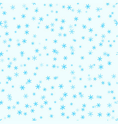 Abstract seamless pattern with snowflakes vector