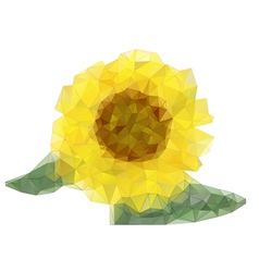 abstract sunflower drawing with triangles vector image