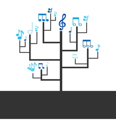 Abstract tree music vector image