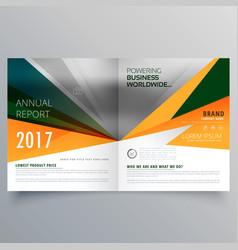Amazing abstract shape bifold business brochure vector