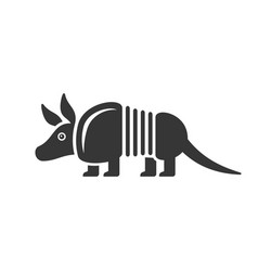armadillo logo icon on white background vector image