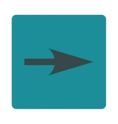 Arrow Axis X flat soft blue colors rounded button vector