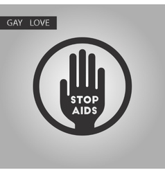 black and white style icon gays Stop AIDS symbol vector image