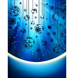 Blue Christmas background EPS 10 vector image