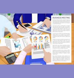 Business meeting poster text vector