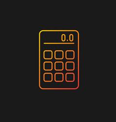 Calculator gradient icon for dark theme vector