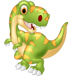 Cartoon dinosaur posing vector