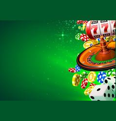 Casino winner banner signboard vector