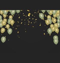 christmas glowing celebration balloons background vector image