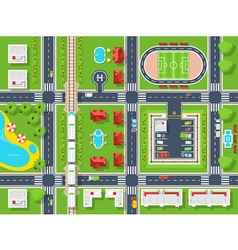 City map top view vector