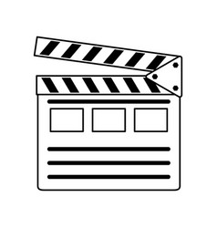 Clapperboard movie icon image vector