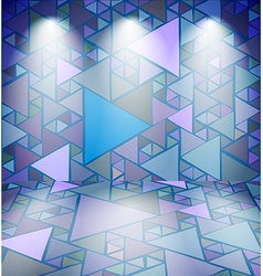 Club room with triangles vector