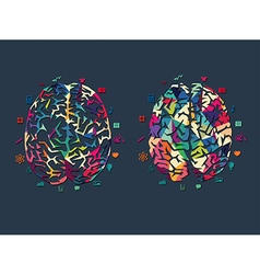 colourful brain vector image