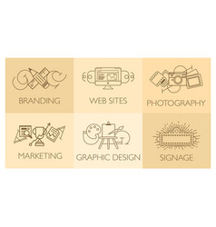 creative design process concept with web studio vector image