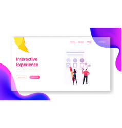 Customer characters user experience review vector