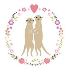 cute meerkats vector image