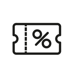 discount coupon icon simple vector image