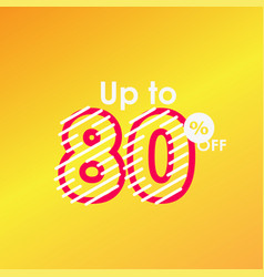 Discount up to 80 off label sale line logo vector
