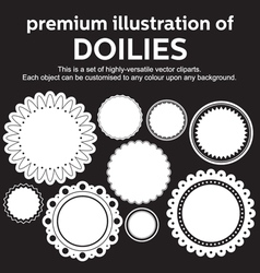 Doilies vector image