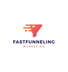 fast quick funneling logo icon vector image