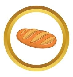 Fresh bread icon vector