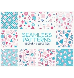 Geometric memphis seamless isolated patterns vector image