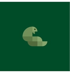Green snake cobra minimalism of squares vector image