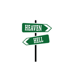 Heaven or hell arrow sign vector