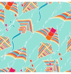 Kites for your design Seamless pattern vector