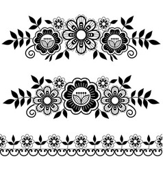 Lace single patterns collection pattern vector