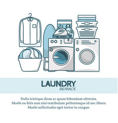 Laundry service concept in vector