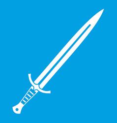 long sword icon white vector image