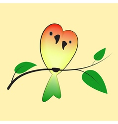 Lovebirds on the tree vector