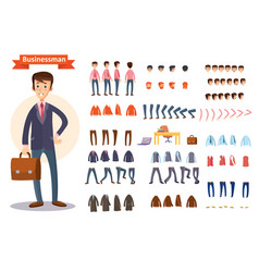Man businessman character creating cartoon vector