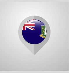 map navigation pointer with virgin islands uk vector image