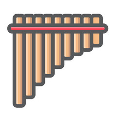 Mexican pan flute filled outline icon music vector