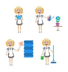 Multitasking housewife vector