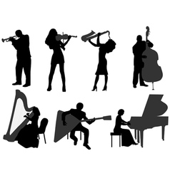 musicians vector image