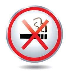 Non smoking Button vector image