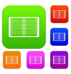 open spiral lined notebook set color collection vector image