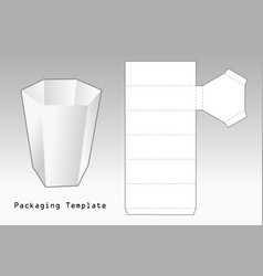 packaging template vector image