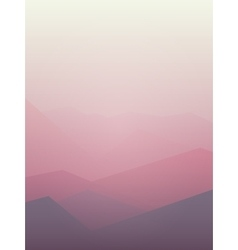 pink Mountain vector image